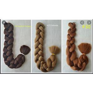 Expression Hair Attachment .Rich Braid . Pack Of 2. Colour 33