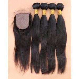 Straight Wave + Free Closure For Beautiful Ladies Indian