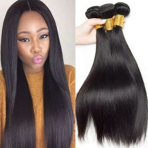 Silky Straight Indian Human Black Hair 3 Bundles