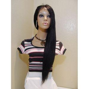 Italian Yaki Middle Part 24inch-long Celebrity Style Wig