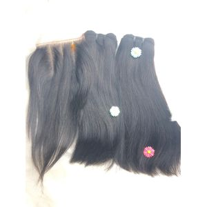 Vietnam  Hair Wig With Lace Closure