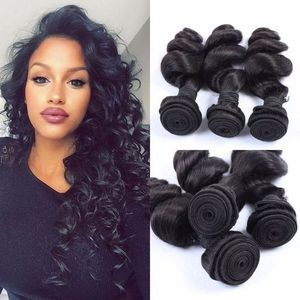 VIRGIN Kikky Lose Wave Curls, 3 Bundles, 300g -Colour 1B-Natural