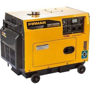 Sumec FIRMAN SDG7000SE Diesel Generator 6.5KVA  100% COPPER COIL