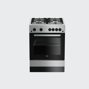 Beko 3 Gas Burners 1 Electric Plate, Oven + Grill FSET63110DX