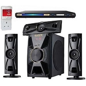 Djack Powerful Bluetooth Home Theater+DVD Player+8GB Flash Drive