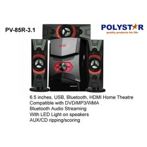 Polystar 6.5 Inches Home Theatre With USB PV-85R-3.1
