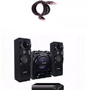 Polystar Mini Hifi Bluetooth Sound System With Built-In Amplifier - Pv-Sub811- Black with Free HDMI Cable