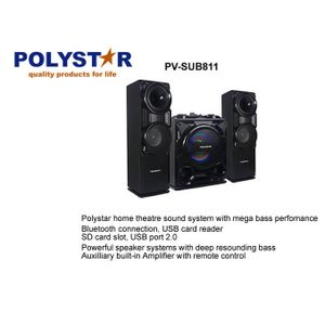 Polystar BOOM SPEAKER WITHOUT DVD PLAYER DISCO LIGHT LED DISPLAY