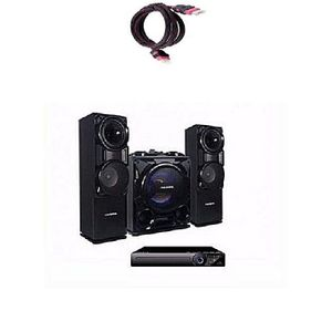 Polystar Mini Hifi Bluetooth Sound System With Built-In Amplifier - Pv-Sub811 + HDMI Cable