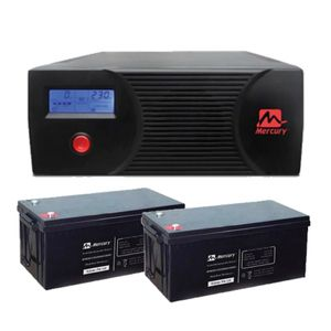Mercury 2.4Kva Inverter & 2 200Ah Batteries (Delivery Lagos Only)