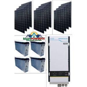 Prag Solar Powered 5kva Inverter With 4  Slim American Batteries