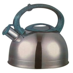 Eurosonic Whistling Kettle - Silver/Green