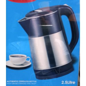 Eurosonic 2.5liters Cordless Color & Stainless Body Electric Kettle