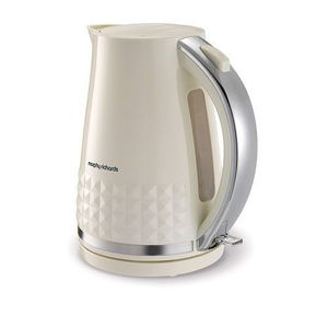 Morphy Richards Dimensions Cordless Electric Jug Cream - 1.5L, 3000W, Rapid Boil Kettle, 360 Degree Base With Cord Storage