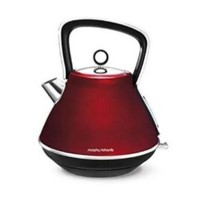 Morphy Richards Evoke Pyramid Traditional Kettle, 1.7L - Cream
