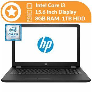 Hp Notebook 15 Intel Core I3 (8GB RAM, 1TB HDD) 32GB Flash+Mouse+USB Light For Keyboard 15.6-Inch Windows 10 Black Colour