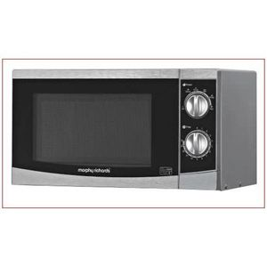 Morphy Richards 20L Manual Solo Microwave With Silver Colour