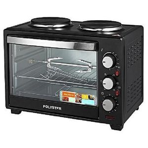 Polystar 25Ltrs Toaster Oven With 2 Hotplates PV-V25B