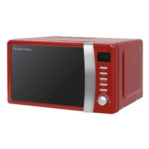 Russell Hobbs Colours Plus 17 Litre Compact Digital Microwave - Red/Black