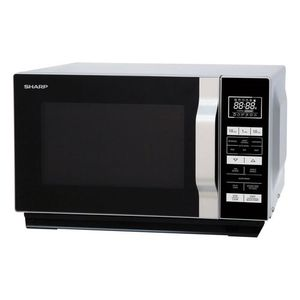 Sharp 23 Litre Freestanding Microwave Oven - 900W + 1000W Quartz Grill & Flat Tray - Stainless Steel - 13 Auto Menus