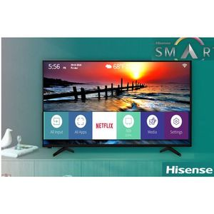 "Hisense 55"" 4K Smart UHD TV With WiFi + YouTube+Netflix+ DSTV NOW APPS & Free Wall Bracket"