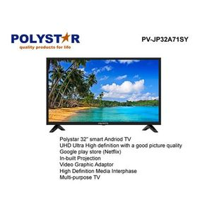 """Polystar 65"""" Full Led HD Smart 4k UHD Curved TV With Netflix And Build In Demo."""