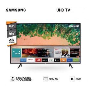 "Samsung 55"" Flat Smart 4K UHD TV."