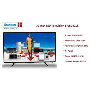 """Scanfrost 40"""" INCHES TV + INBUILT SOUND BAR SFLED- FULL HD PICTURE"""